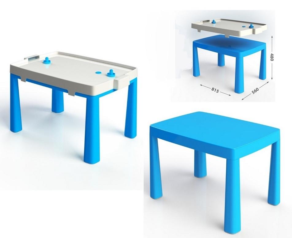 Стіл дитячий 2в1 з грою Хокей синій, Стол детский Долони DOLONI. pro