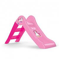 Детская пластиковая горка UNICORN, розовая., фото 1