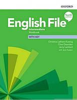 English File 4th (fourth) edition Intermediate Workbook учебник