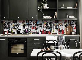 """Скинали на кухню Zatarga """" Fashion"""" 650х2500 мм разные цвета виниловая 3Д наклейка кухонный фартук"""