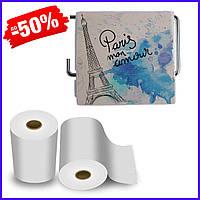 Держатель для туалетной бумаги закрытый Bathlux Menara Eiffel 50326, держатель для туалетной бумаги в рулонах