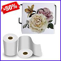 Держатель для туалетной бумаги закрытый Bathlux Rosa 50336, пластиковый бумагодержатель для туалета бытовой