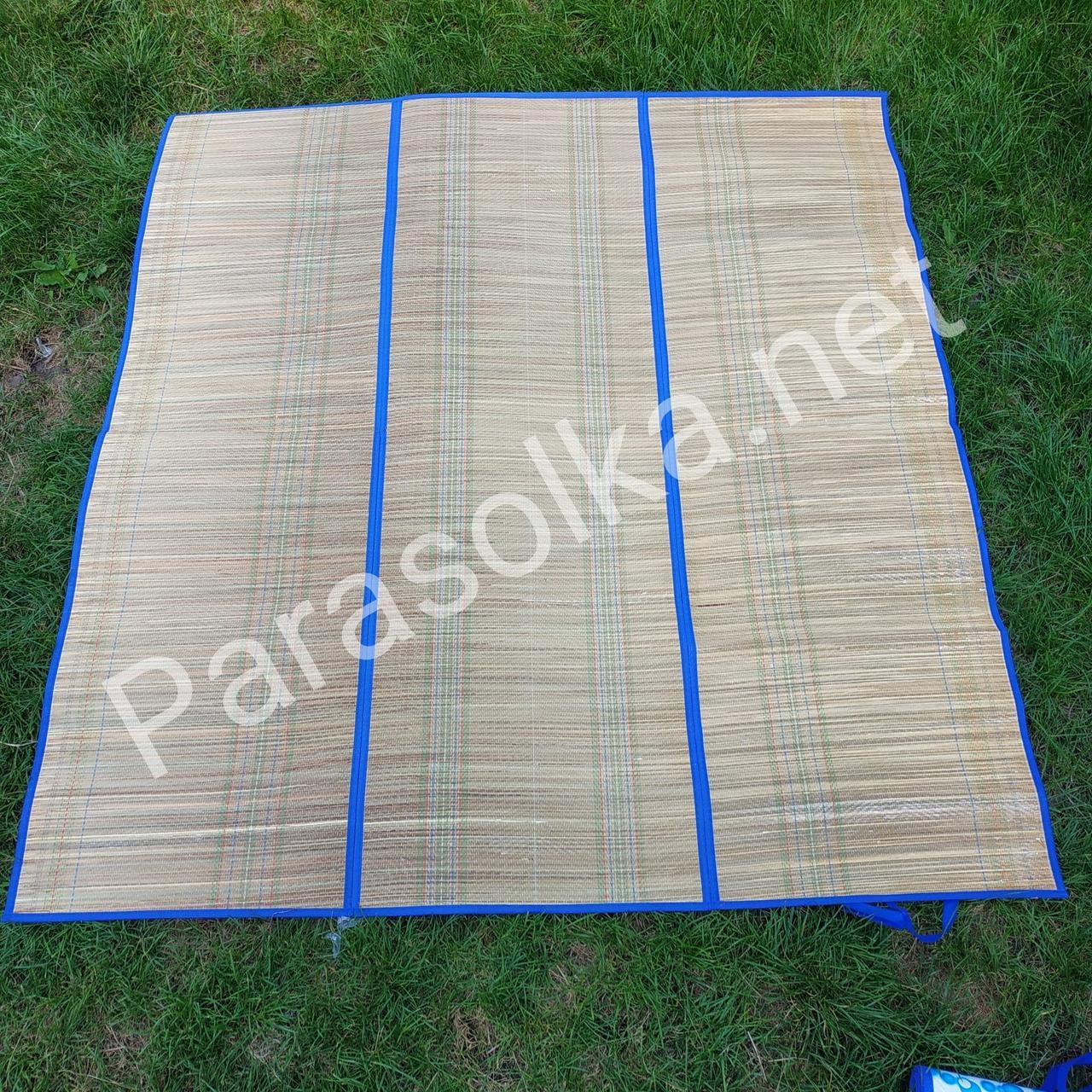 Килимок для пляжу з фольги і бамбука(145*155)