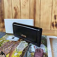 Женский кожаный кошелёк на кнопке JCCS, фото 3