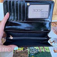 Женский кожаный кошелёк на кнопке JCCS, фото 8