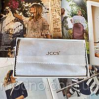 Женский кожаный кошелёк на кнопке JCCS, фото 10