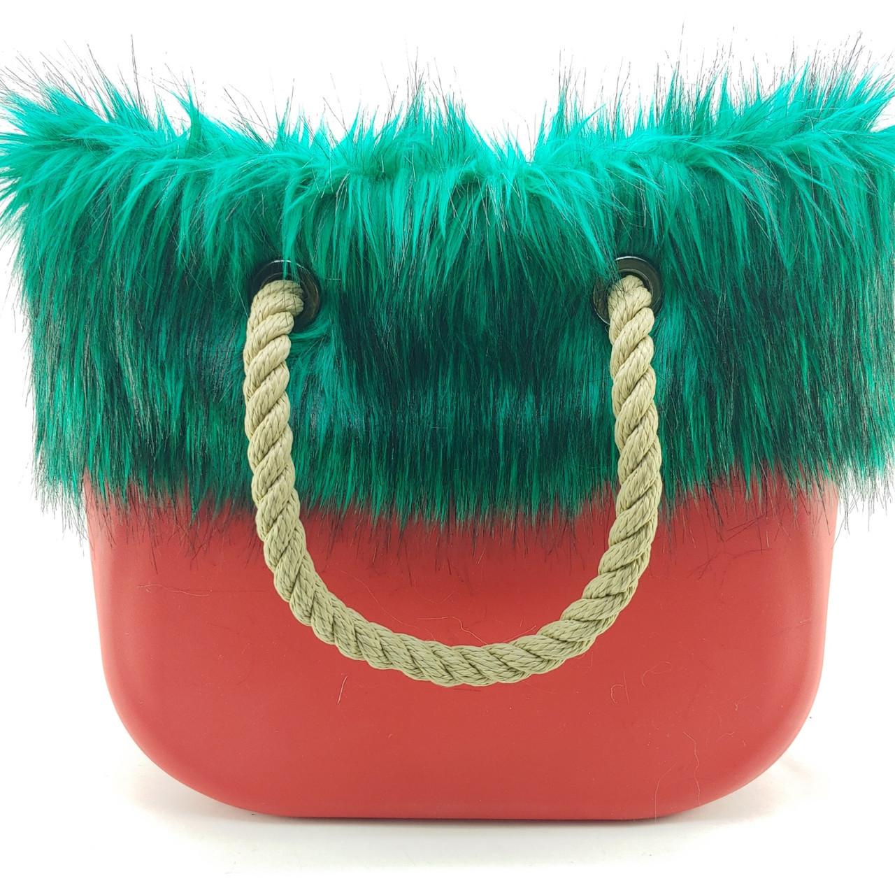 Мех для сумок конструктора из каучука зеленый