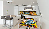 Наклейка на стол Zatarga «Осенний Водопад» 650х1200мм для домов, квартир, столов, кофейн, кафе