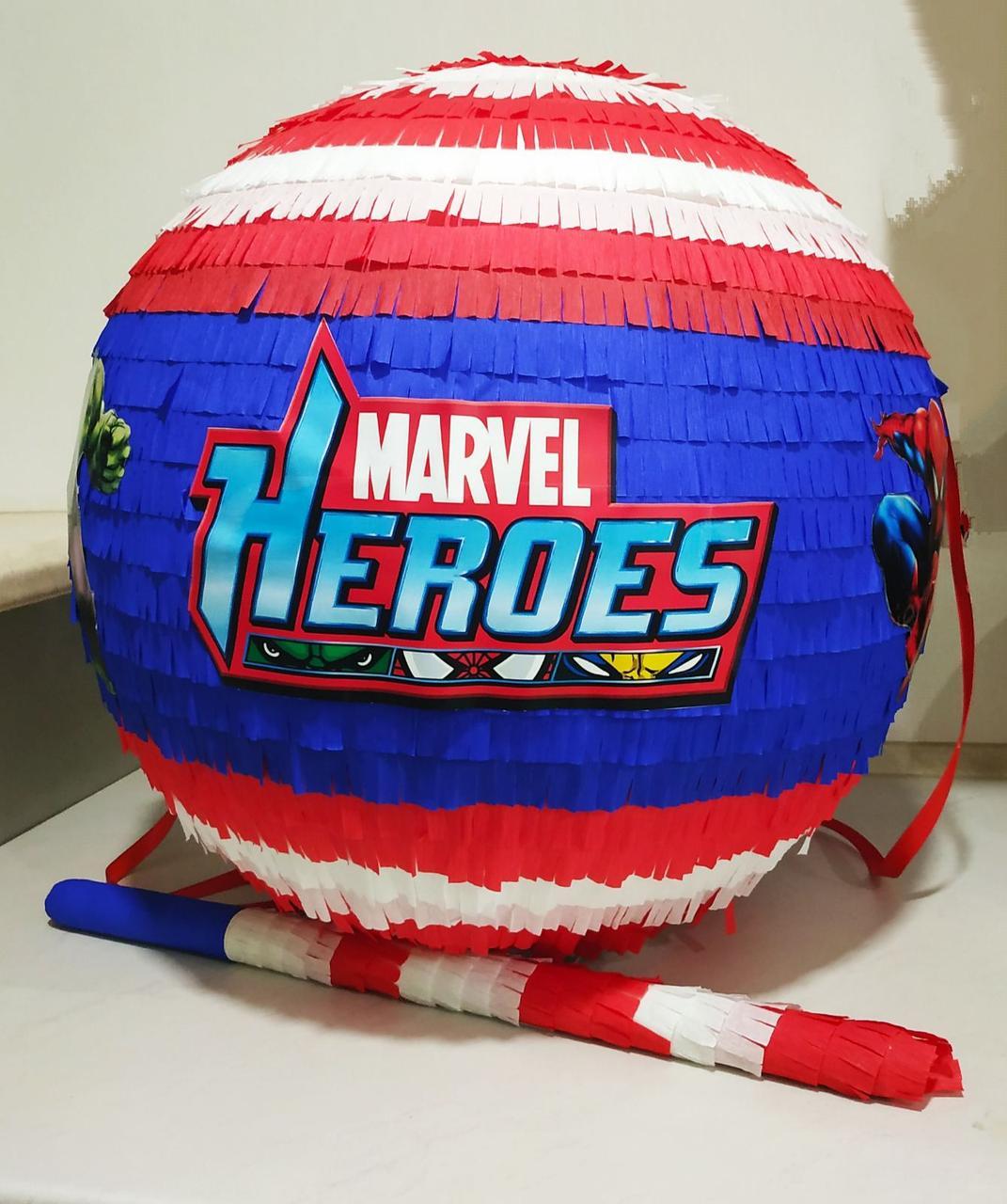 Пиньята - шар с сюрпризом Герои Марвел