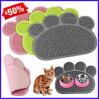 Коврик для домашних животных Paw Print Litter Mat, автомобильный коврик для кошек и собак с лапками