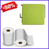 Держатель для туалетной бумаги Bathlux закрытый Green Leaves 50306, держатель туалетной бумаги настенный