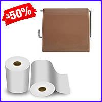 Держатель для туалетной бумаги Bathlux закрытый Stone 50309, держатель туалетной бумаги с крышкой в ванную