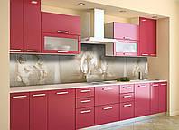 Кухонный фартук самоклеющийся Ренесанс лепнина ретро (скинали для кухни наклейка ПВХ) бежевый 600*2500 мм