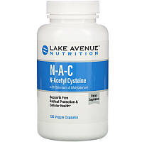 NAC N-ацетилцистеин с селеном и молибденом,  N-A-C Lake Avenue Nutrition, 600 мг, 120 капсул