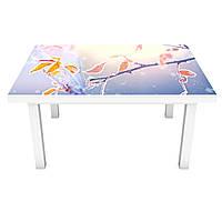Наклейка на стол Zatarga «Заснеженная ветка» 650х1200мм для домов, квартир, столов, кофейн, кафе