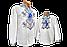Біла сорочка вишиванка для хлопчика р. 140-176, фото 7