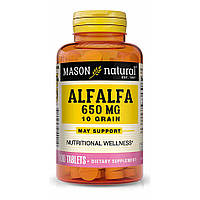 Люцерна,  Alfalfa Mason Natural, 650 мг, 100 таблеток
