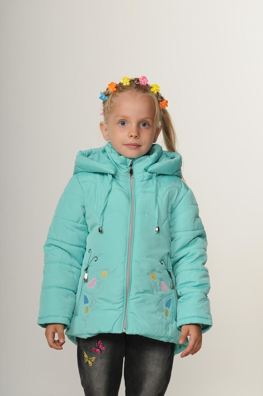 Дитяча демісезонна куртка для дівчинки 20-28 м'ята