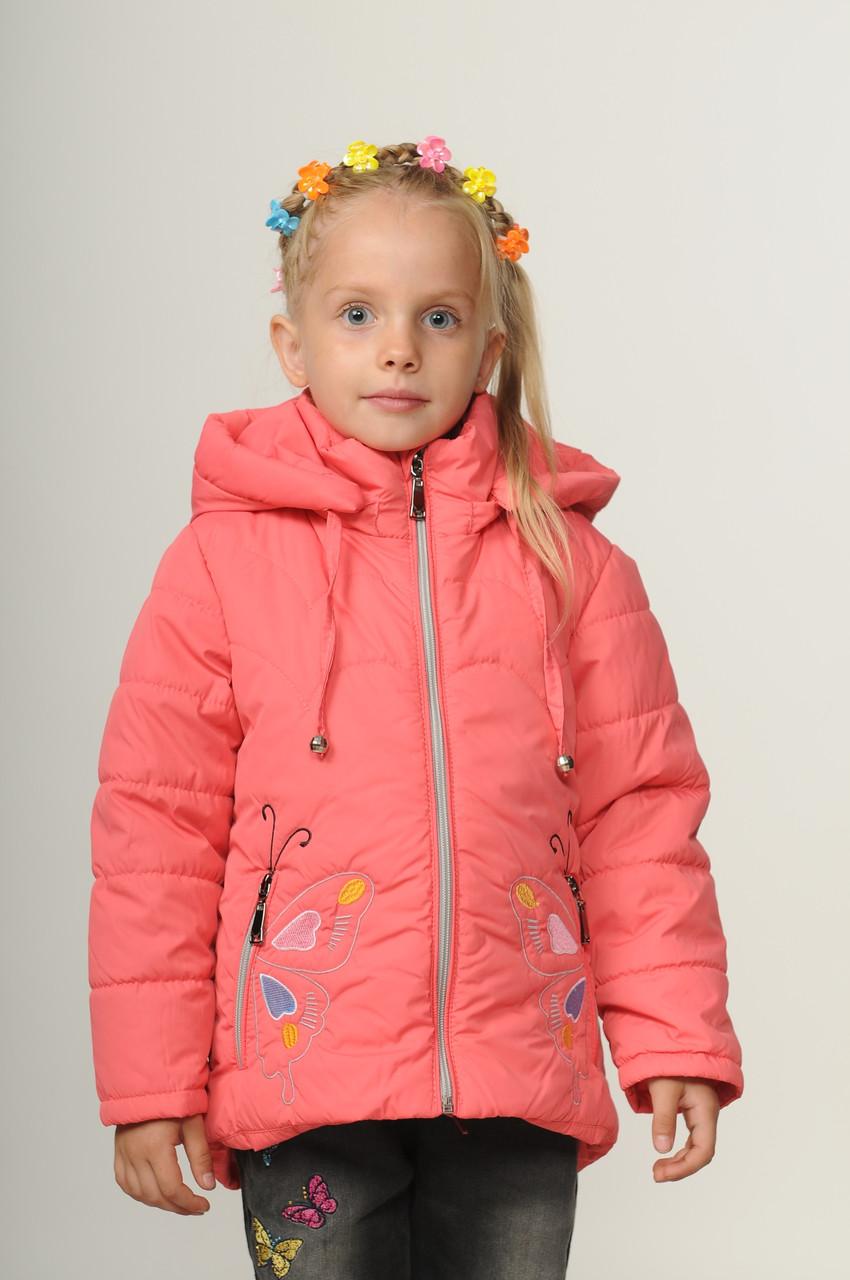 Детская демисезонная куртка для девочки 20-28 Коралл