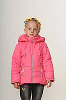 Детская демисезонная куртка для девочки 20-28 Малина