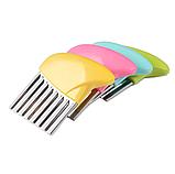 Нож для волнистой нарезки овощей «Compact» розовый, фото 5