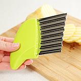 Нож для волнистой нарезки овощей «Compact» розовый, фото 10
