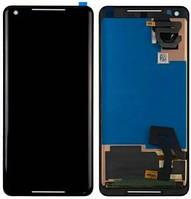 Дисплей Google Pixel 2 XL (G011C) + сенсор черный ( модуль, стекло)