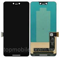 Дисплей Google Pixel 3 XL + сенсор черный ( модуль, стекло)