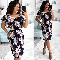 Стильное платье   (размеры 50-56) 0250-90