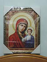 """Икона в рамке - """"Казанская Божья Матерь"""". Размер 43 х 33 см, фото 1"""