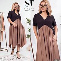 Стильное платье   (размеры 48-58) 0251-00, фото 1