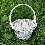 Білий кошик з лози, фото 3