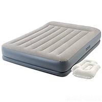 Надувная кровать Intex 64118-2, 152 х 203 х 30, встроенный электронасос, подушки. Двухспальная, (Оригинал)
