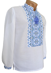 Домоткана сорочка вишиванка для хлопчика р. 140-176
