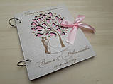Весільна книга для побажань та фото з дерева, фото 4