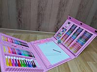 Набор для детского творчества в чемодане из 208 предметов/ розовый, голубой