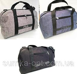 Спортивные универсальные сумки FILA для (3цвета ДЖИНС)19х26х48см