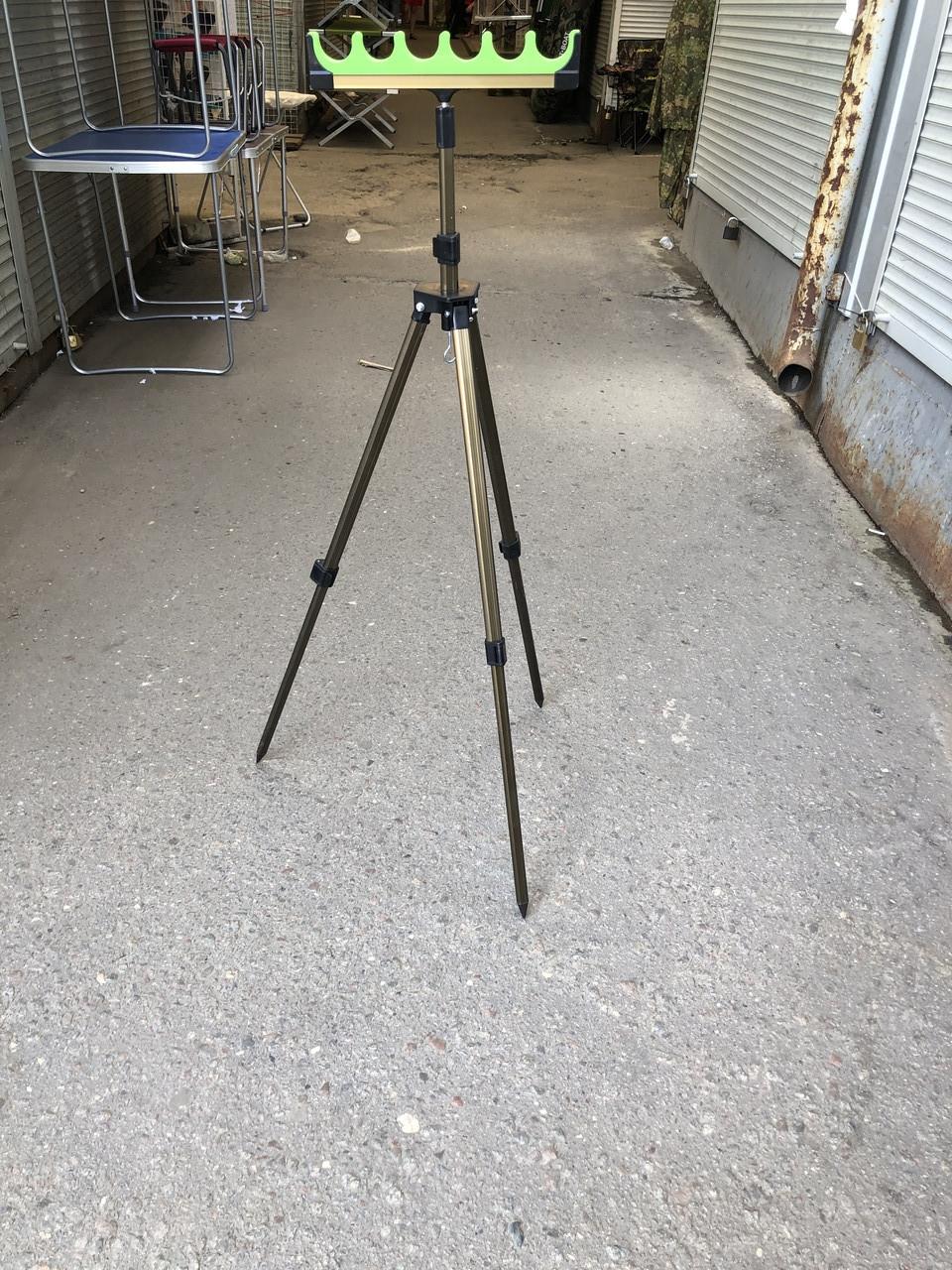 """Подставка тренога фидерная телескопическая с поролоновой гребенкой 6 секций высота 1.5 м """"ОРИГИНАЛ"""""""
