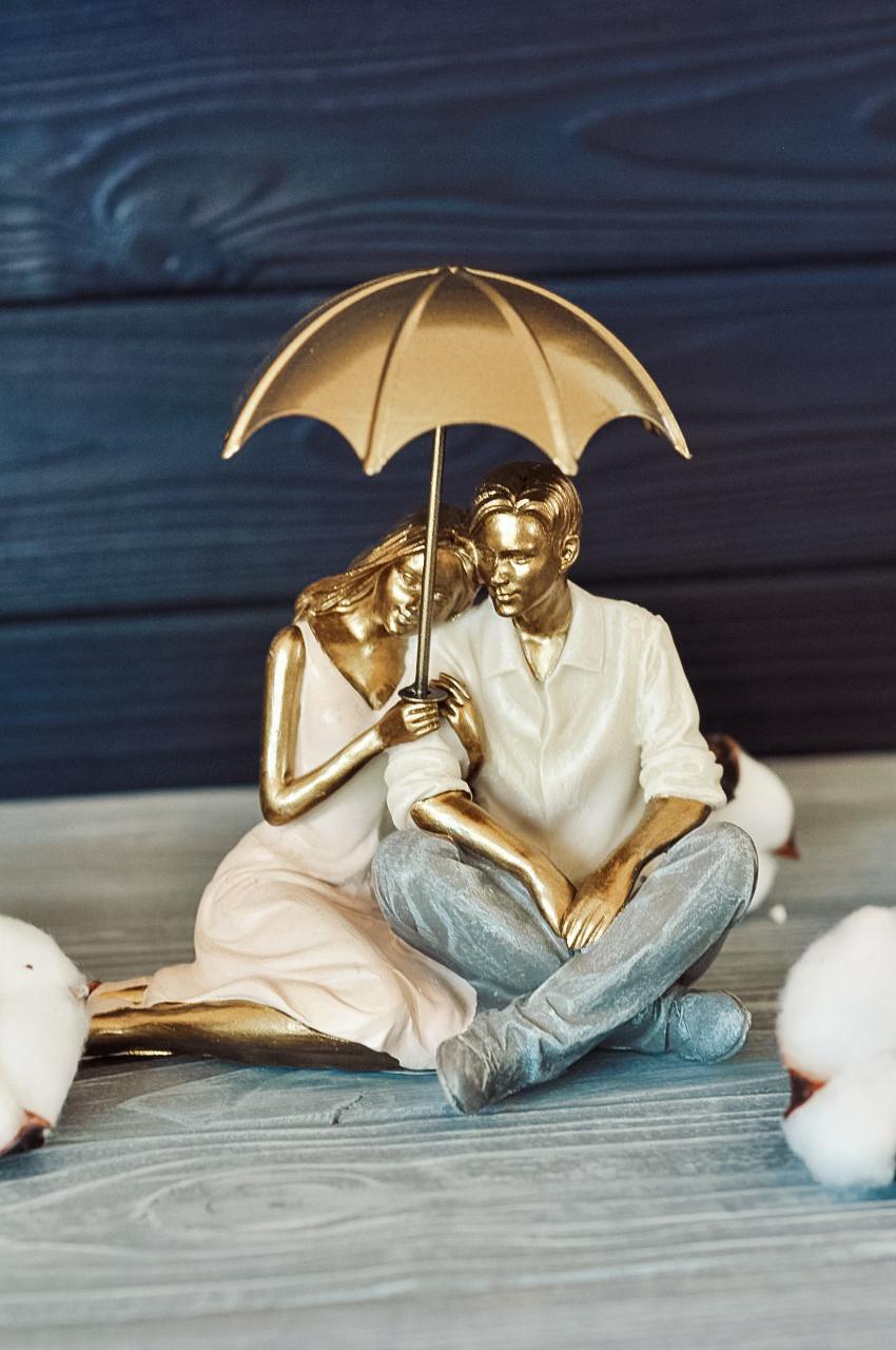 """Фигурка """"Пара под зонтиком"""" 16,5*7,5*17 см"""