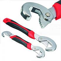 Универсальный ручной разводной гаечный ключ Snap'N Grip 2 ключа Чудо ключ удобнейший инструмент, фото 3