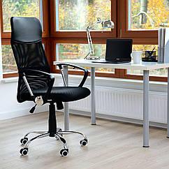 Офисное кресло Vecotti Xenos Compact  вращающийся экокожа Черный