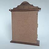 Ключница деревянная 31*22*8, 6 крючков, настенная, настольная, фото 3
