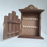 Ключница деревянная 31*22*8, 6 крючков, настенная, настольная, фото 5