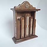 Ключница деревянная 31*22*8, 6 крючков, настенная, настольная, фото 2