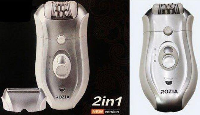 Эпилятор Депилятор Бритва 2в1 ROZIA HB-6005 Влагозащищенный Аккумуляторный
