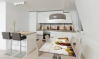 Наклейка на стол Zatarga «Бочки » 600х1200мм для домов, квартир, столов, кофейн, кафе