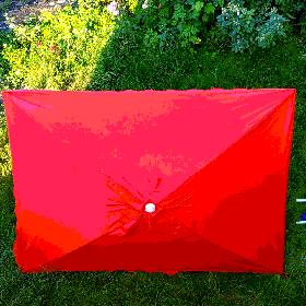Зонт торговий червоний 2х3м