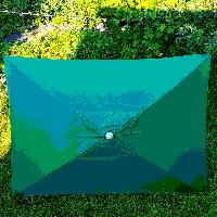 Зонт торговый зеленый 2х3м