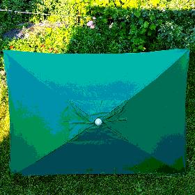 Зонт торговий зелений 2х3м