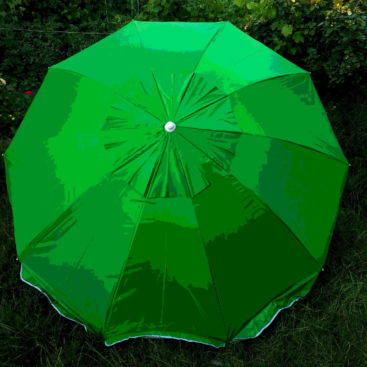 Зонт пляжный светло зеленый с клапаном 2,5 метра